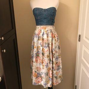 Adorable VINTAGE Floral Skirt